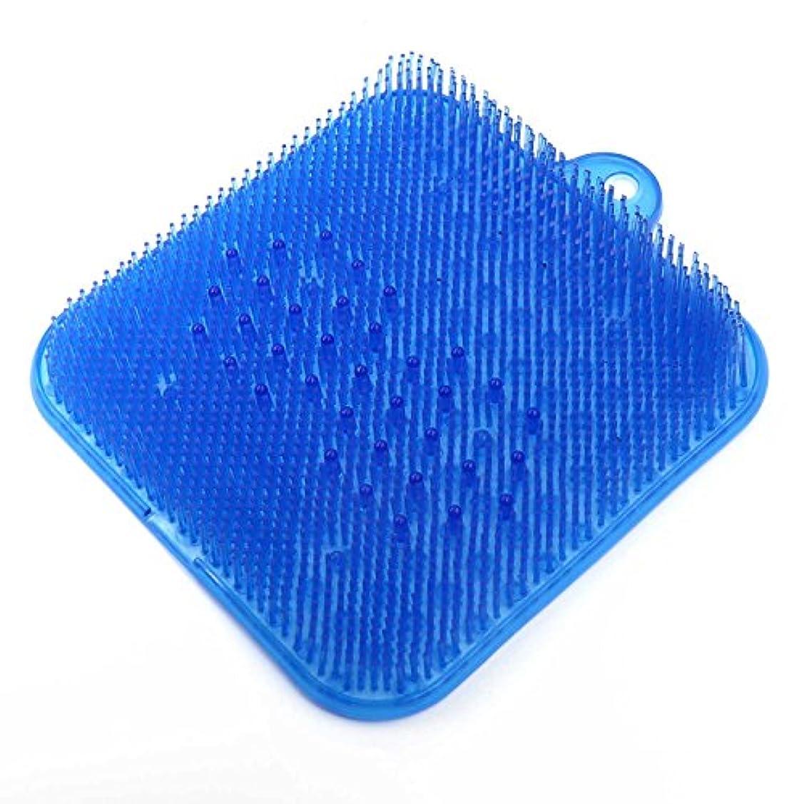 ヒットうれしいグラフDigHealth 足洗いマット ブルー