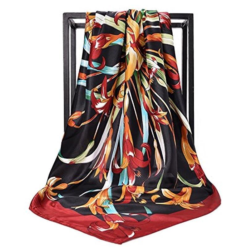 ホイップ反抗すばらしいですExonlyone プリントされたスカーフのスカーフカバースクエアスカーフの女の子の女性のためのスカーフ90 * 90センチメートル