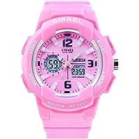 KXAITO Ladies Outdoor Waterproof Sports Watch Women Top Brand Quartz Watch Fashion Bracelet Movement Analog-Digital Display Girls Wrist Watches