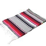 モリーナインディアンブランケット (Molina Indian Blanket) Cotton Serape Blanket/コットンサラペブランケット[約213×147cm]LT.GRAY