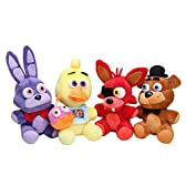 Microplush Five Nights at Freddy's Plush Toy 10inch set of 4 Bonnie /Chica /Freddy /Foxy ファイブナイトアットフレディーズ ぬいぐるみ 4体セット ボニー チカ フォクシー フレディー [並行輸入品]