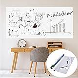 ホワイトボード シート 60*200cm ウォールステッカー 壁紙 POP 落書き 壁に貼り付け オフィスメモ 水性ペン付き