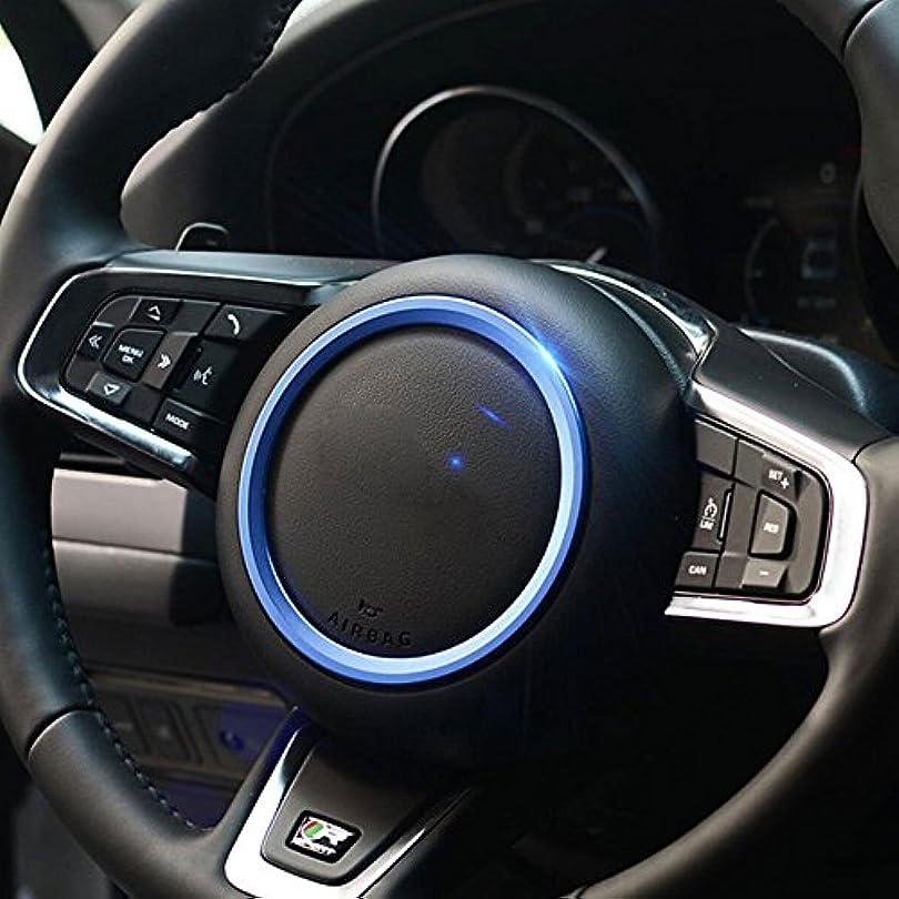 繰り返した有利医薬品Jicorzo - Car Styling Steering Wheel Cover Trim Interior Chrome Decor Ring Sticker For Jaguar XF XE F-Pace F-Type...