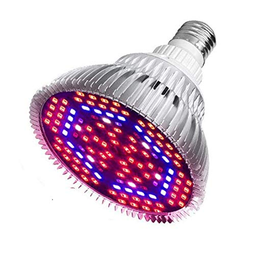 Bostar 80W LED植物育成ライト E27 室内栽培ライト 日照不足解消 120LED 全光スペクトル 植物成長促進ランプ 温室/園芸/野菜工場/植物農園