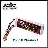 Eleoption リポバッテリー 互換バッテリー 予備バッテリー 11.1V 3000mah Li-po電池 25C XT60プラグ DJI Phantom FC40 F450 F550 連続放電
