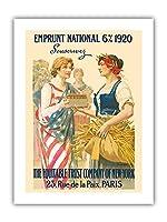 ナショナル・ローン1920 - 購読します - ニューヨーク、パリの公平信託会社 - ビンテージな広告ポスター によって作成された ギラウーム・セイニャック c.1920 - プレミアム290gsmジークレーアートプリント - 30.5cm x 41cm