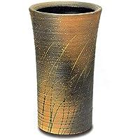ロクロ目なびき草【自然灰釉】 信楽焼 陶器 傘立