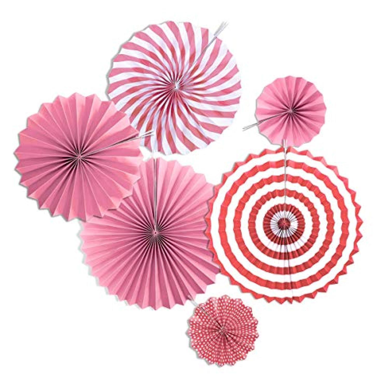 YideaHome ペーパーファン 飾り付けセット 誕生日 結婚式のデコレーション 紙扇子 6個セット ハニカムボール ペーパーフラワー 紙花 フラワーポンポン 5色選べる