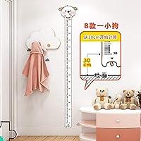 wsqyf PVC子供部屋の壁の装飾リビングルームの赤ちゃんの身長測定尺漫画の高さのステッカー壁の自己接着取り外し可能、06