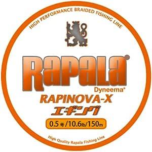 Rapala(ラパラ) PEライン ラピノヴァX エギング 150m 0.5号 10.6lb 4本編み ホワイト/オレンジ RXEG150M05WO