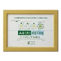 大仙 額縁 賞状額 カノエ A4大 ナチュラル シュリンクパック J635D2500