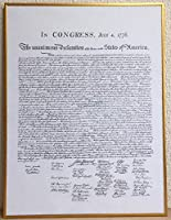 アメリカ独立宣言 【ポスター+フレーム】61x46cm ゴールド