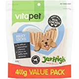 Vita Pet Jerhigh Milky Sticks, Dog Treats, for Puppies and Adult Dogs, Small/Medium/Large dogs, 400 g