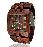 OMEGA Wood Watch by Gassen James–Men 'sスタイルオメガIローズ木製