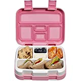 Lunch Box for Kids Childrens, Bento lunch Box for Boys Girls, Toddler School Lunch Containers 5-Compartment On-the-Go Meal Fr