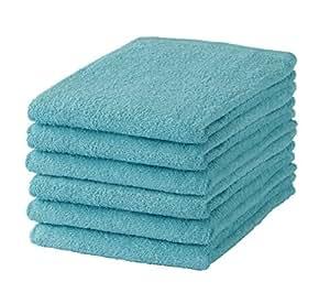 GamachaTowel バスタオル 同色 6枚セット 約60×120cm 【バスタオル】 【ラグーン6枚】