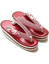 TAYU-TAFU(たゆたふ) ストライプボタン刺繍草履 品番:1490297