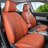 autodecorun PUレザー自動車正確なフィットシートカバーfor Audi a1a3a4a5a6a7a8q3q5q7100r8TT Leatherette車シートカバーセットフルカバーシートプロテクター内部アクセサリー ブラウン RD-DIDT048