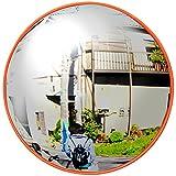 iimono117 取付簡単 丸型 カーブミラー 直径30cm 道路反射鏡 車庫や曲がり角の死角のカバーに