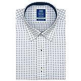 BRICK HOUSE 新体型 半袖 ワイシャツ ボットーニ スナップダウン BM017200AB45N4A-10 ブルー 37(半袖)