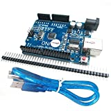 HiLetgo NEWバーション UNO R3 ATmega328P USB CH340G Arduinoと互換性 + USB ケーブル [並行輸入品]