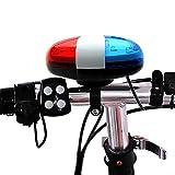 Wodery 自転車 バイク ライト マウンテン 高輝度LED6灯 シリコン 自転車 フロントライト 自転車 サイクリング ハンドルバー ベル ホーン 鐘 大きな音 自転車安全警告 ライト&スピーカー 子供用 大人用