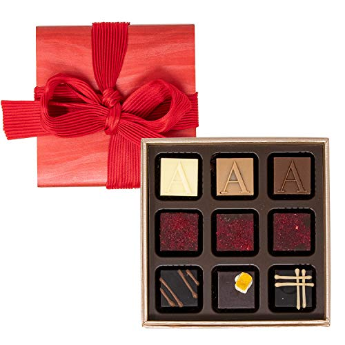 限定ボックス入り アルマーニ ドルチ ARMANI DOLCI プラリネ チョコレート バレンタイン ショップバッグ付き 9個入り