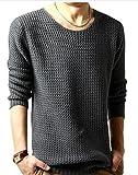 (アルファーフープ) α-HOOP メンズファッション きれいめ カジュアル ストリート インナー 長袖 丸首 トップス M ~ XL 大きいサイズ も TOP2 (05.深灰(L))