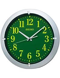 セイコー クロック 掛け時計 アナログ 集光樹脂文字板 銀色 メタリック KX618S SEIKO