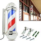 "HomeSmith社 バーバーショップ 床屋 30"" Classic Barber Shop Pole Light Red White Blue Rotating Stripes Hair Salon Shop Signs Attractive Symbol [並行輸入品]"
