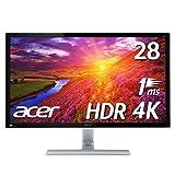 【Amazon.co.jp限定】PS4 pro対応 Acer ゲーミングモニター 4K HDR ディスプレイ RT280KAbmiipx (TN/非光沢/3840x2160/4K/16:9/1ms/HDR10/HDMI2.0×2/DisplayPort v1.2)