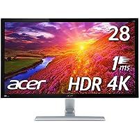 【Amazon.co.jp限定】PS4 pro対応 Acer ゲーミングモニター 4K HDR ディスプレイ RT280KAbmiipx (28インチ/TN/非光沢/3840x2160/4K/16:9/1ms/HDR10/HDMI2.0×2/DisplayPort v1.2)