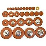 ソプラノサックス タンポ パッド 28点 セット 羊皮 レザー サックスパーツ 交換 リペア 手入れ 管楽器