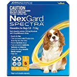 Nexgard, Flea, Tick & Worming Monthly Chew, Spectra, Dog, 3.6-7.5kg, 6pk