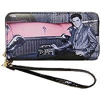 Elvis Presley Around Zip Closure Wallet
