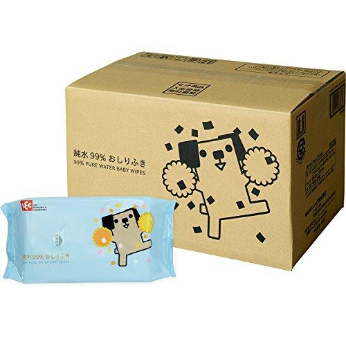 レック 純水99% おしりふき 「ポチ」 80枚入×20個 (1600枚) 日本製 パラベンフリー