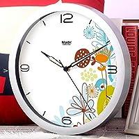 ミュート発光時計/リビングルームの寝室のファッション創造的なウォールチャート/現代の時計/時計 ホームデコレーション時計 (Color : H, サイズ : 14inch)