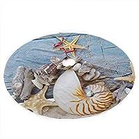 貝殻ヒトデ砂クリスマスツリースカートメリークリスマスツリー、クリスマスの装飾のための木のスカートお祝いの休日の装飾36インチ