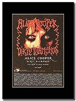 - Alice Cooper - Dirty Diamonds - つや消しマウントマガジンプロモーションアートワーク、ブラックマウント Matted Mounted Magazine Promotional Artwork on a Black Mount
