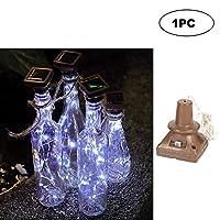 LIXADA ソーラーストリングライト 1M 省エネ ワインボトル銅線ランプ 雰囲気作り 庭/ティオ/庭/クリスマス/結婚式/パーティー