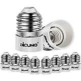 DiCUNO E27/E26 to E14 Adaptor, LED Light Bulbs Converter, Max Wattage 200W, 165 Degree Heat Resistant (10-Pack)