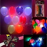 混合色パーティー ウェディングカクテル クリスマスパーティー LEDライトアップ バルーン(20枚)