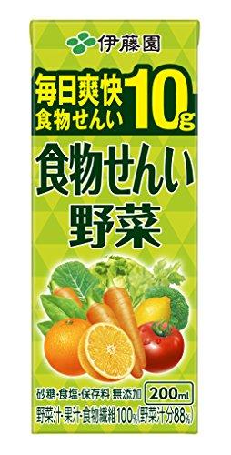 伊藤園 食物せんい野菜 (紙パック) 200ml×24本...