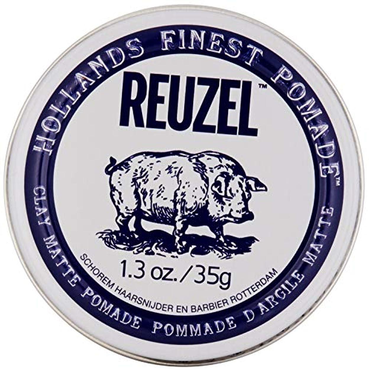 ひねり実質的贅沢なREUZEL INC Reuzelクレイマットポマード、1.3オンス 0.1 白