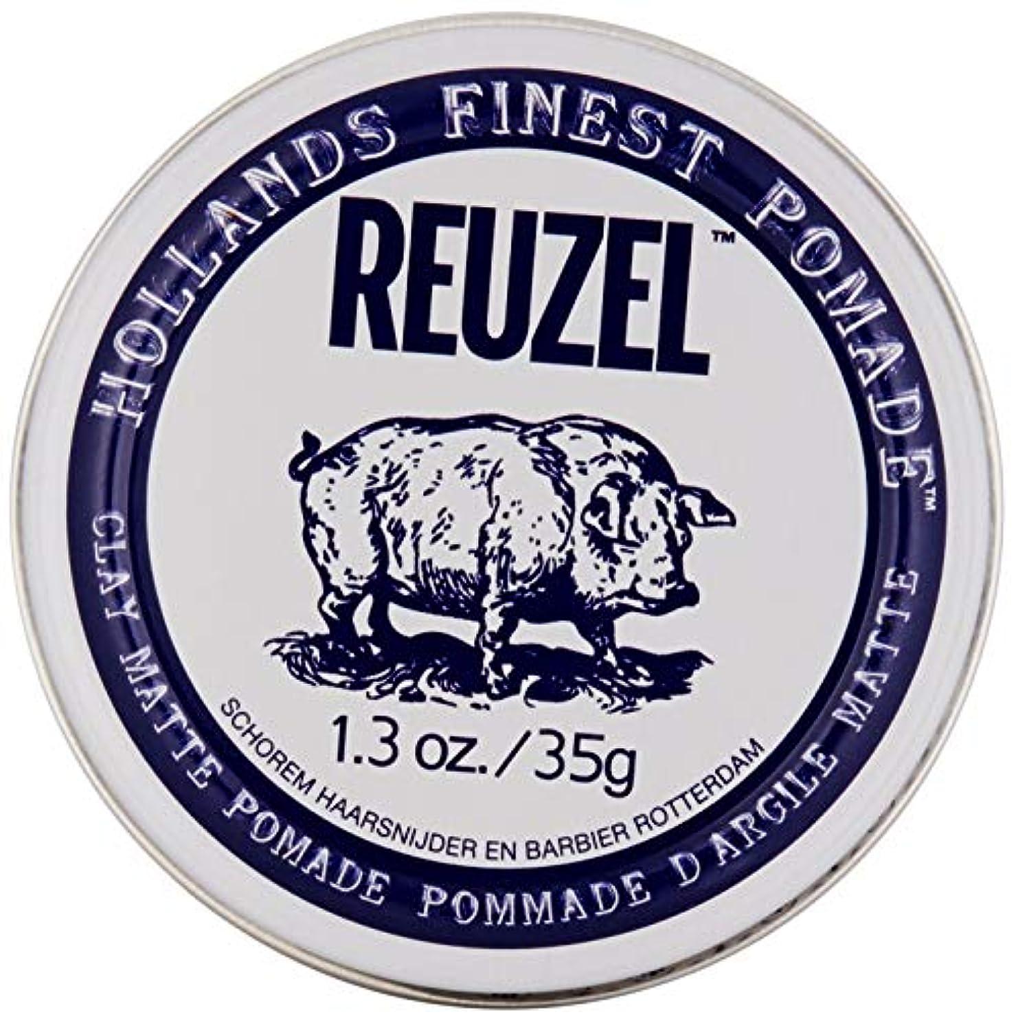 トロリー水差し無法者REUZEL INC Reuzelクレイマットポマード、1.3オンス 0.1 白