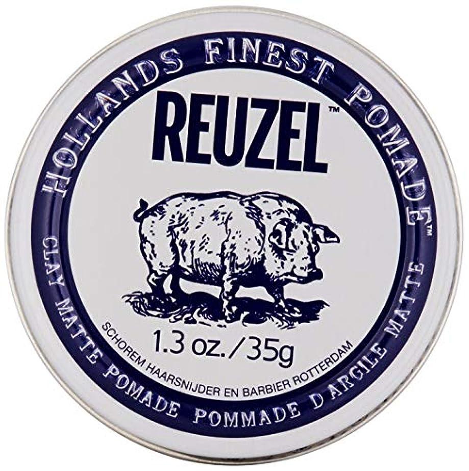 アンケート意図的スタイルREUZEL INC Reuzelクレイマットポマード、1.3オンス 0.1 白