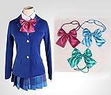 ラブライブ! 国立音ノ木坂学院 女子制服 風 衣装 3点セット (コート、蝶結び3色付き、スカート) コスチューム レディース Mサイズ