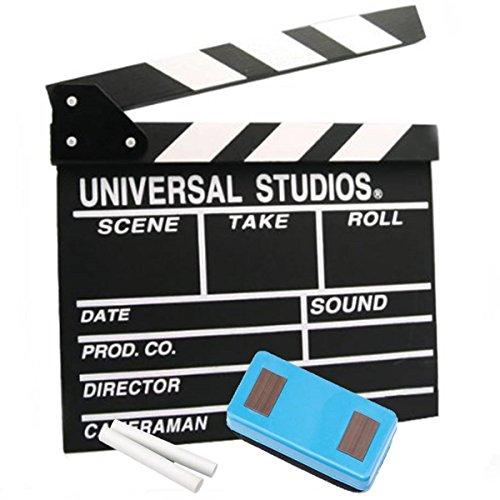 撮影 スターターキット カチンコ チョーク 黒板消し 3点 セット 映画 Y...