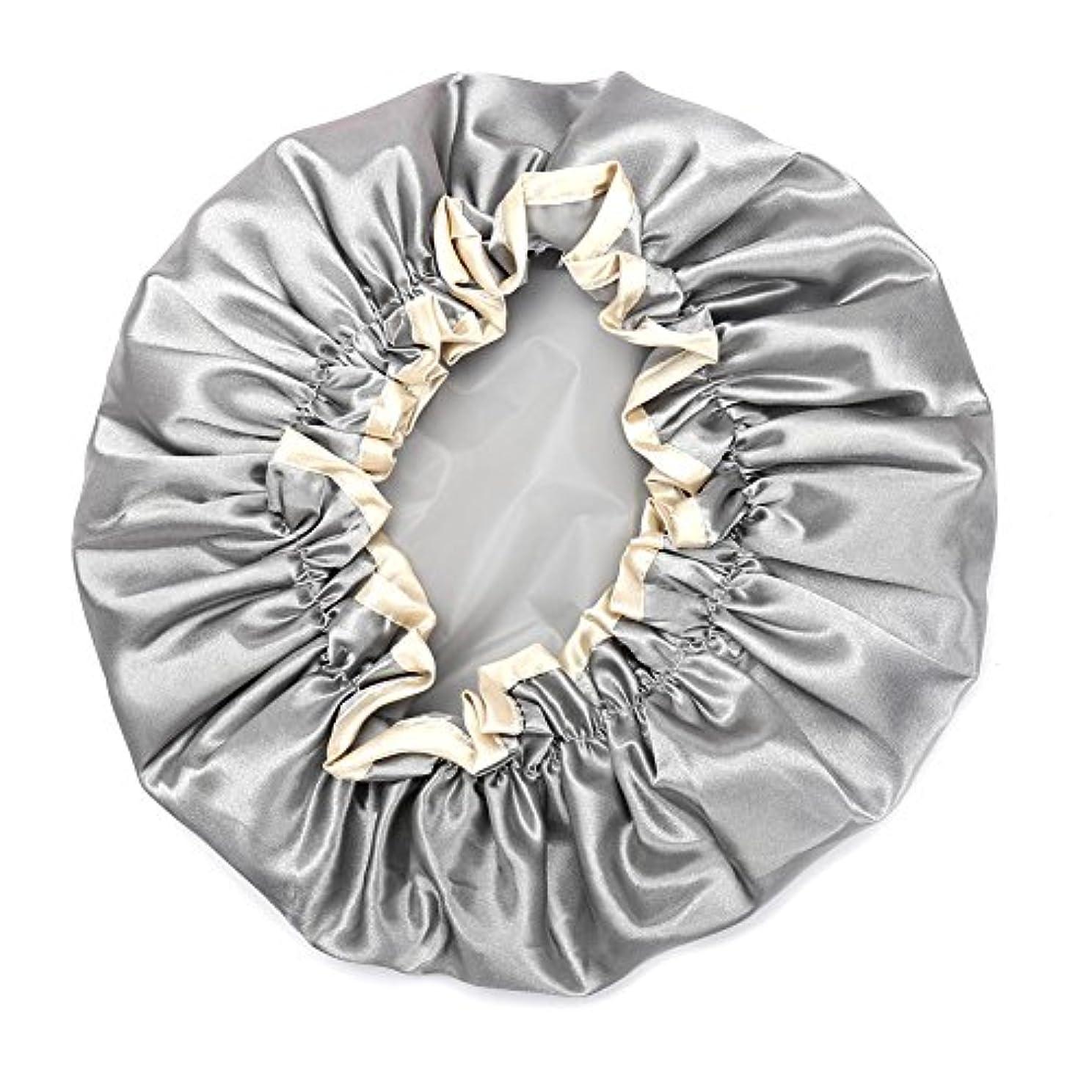 悲しみ物理的にスイス人Hitchlike シャワーキャップ ヘアキャップ ヘアーキャップ ヘアーターバン 入浴キャップ 帽子 お風呂、シャワー用に 浴用帽子 便利 女性の弾性の防水入浴シャワーキャップ再使用可能なサロンの髪を保護する帽子