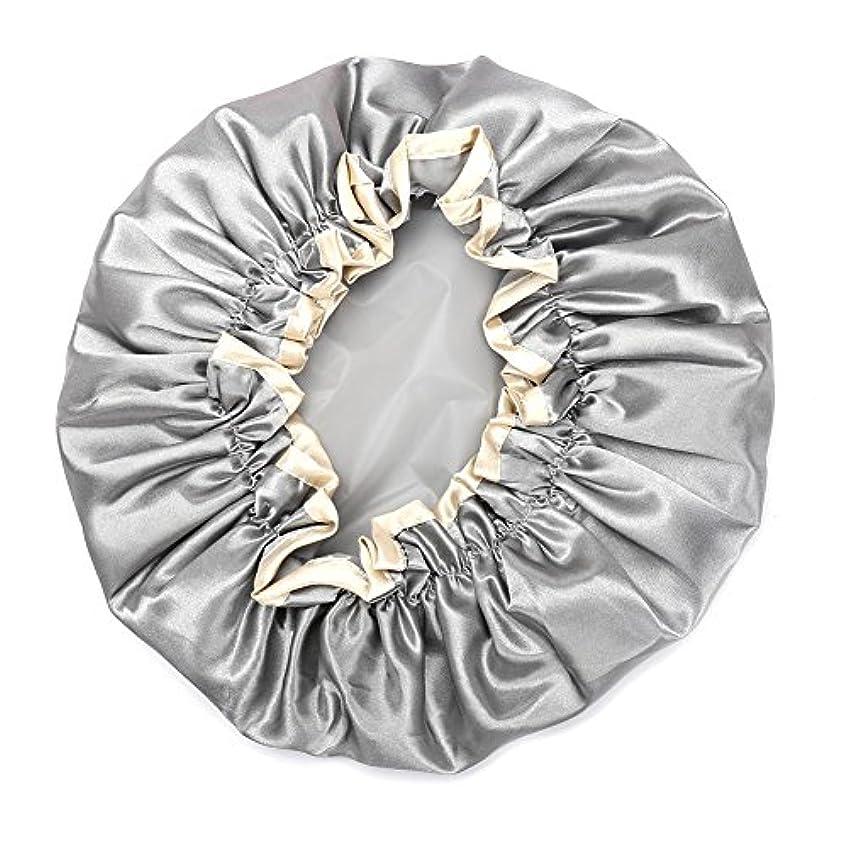 渦同じ脱臼するHitchlike シャワーキャップ ヘアキャップ ヘアーキャップ ヘアーターバン 入浴キャップ 帽子 お風呂、シャワー用に 浴用帽子 便利 女性の弾性の防水入浴シャワーキャップ再使用可能なサロンの髪を保護する帽子